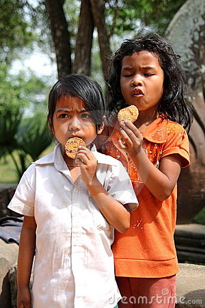 Poor and Hungry Children Editorial Stock Photo