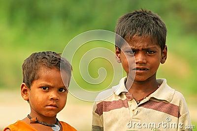 Poor indian boys