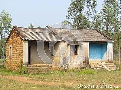 Poor Indian rural brick house