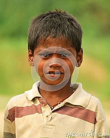 Poor indian child