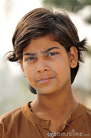 Poor indian girl portrait