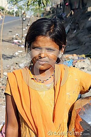 Poor Indian Teenager