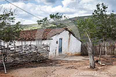 Mud house in Brazil