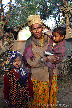 Poor People in India Editorial Photo