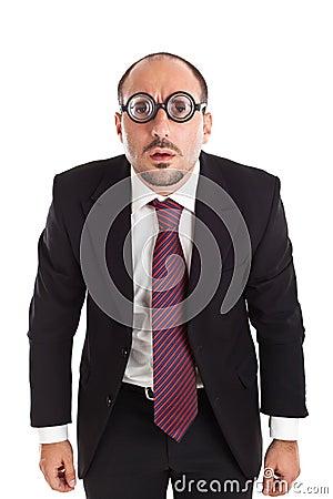 Poor Sight Businessman staring