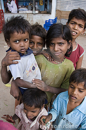 Poor Street Children in India Editorial Stock Photo