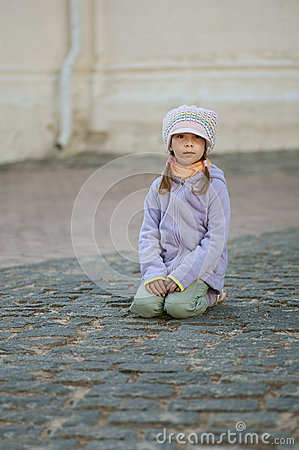 Poor unhappy girl-preschooler