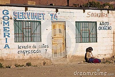 Poor woman, Bolivia Editorial Stock Image