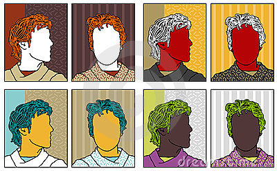 Pop-art anonymous portraits