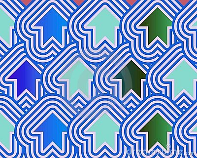 Pop Art Arrows Up Blue Green Pale Blue