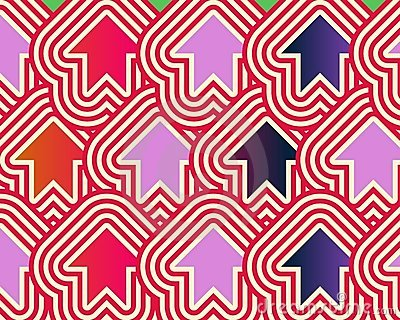 Pop Art Arrows Up Red Violet Blue