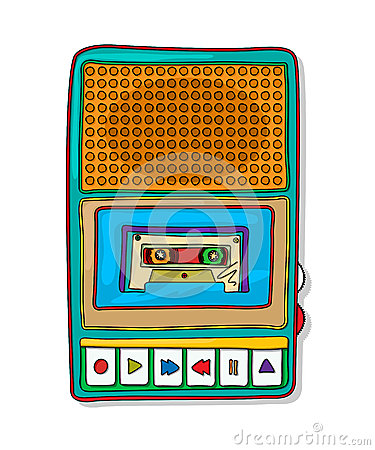 Pop-art audiobandrecorder