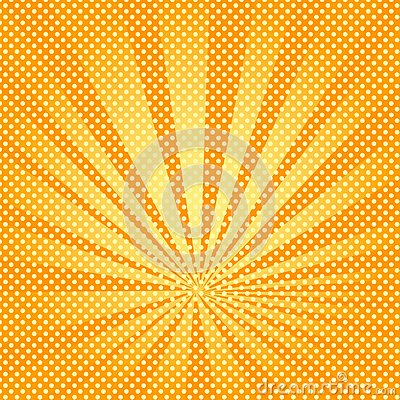 Free Pop Art Background Rays Of The Sun Are Orange And Yellow. Stock Images - 108231054
