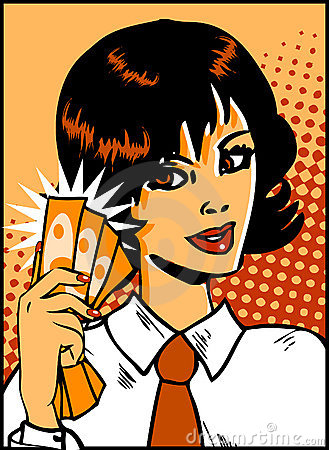 Pop Art Business Woman