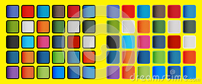 Pop Art Colours of the Social Media Icons Elements