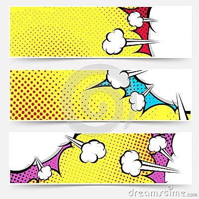 Free Pop Art Comic Book Yellow Header Collection Stock Photos - 47723303