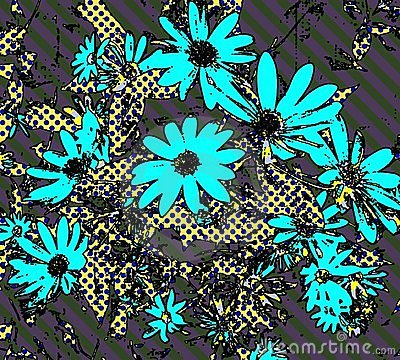 Pop Art Daisy Wallpaper