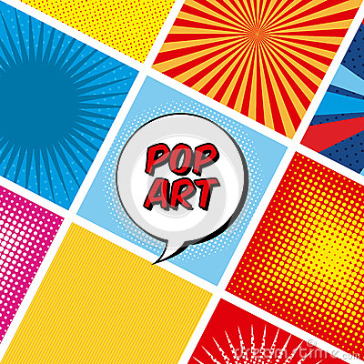 Pop Art Design Pop Art Design Over Colorful Background Vector Illustration