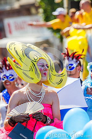 Pop Art Drag Queen at Christopher Street Day Editorial Photography