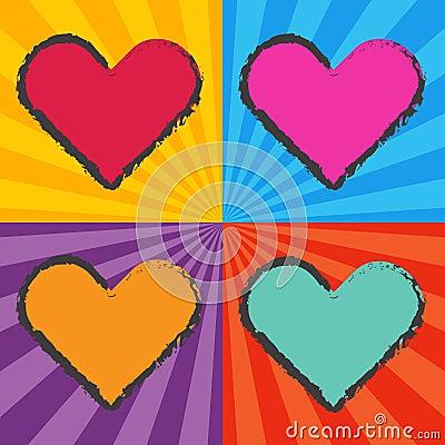 Pop Art Heart Royalty Free Stock Image Image 36510366