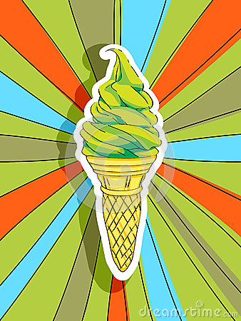 Pop art ice cream