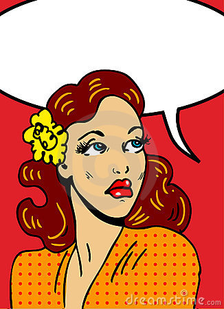 Pop art  illustration of a woman