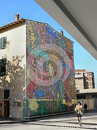 Pop art graffiti Editorial Stock Image
