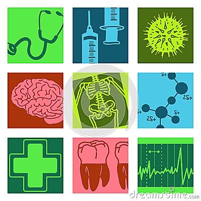 Pop art objects - science & medical