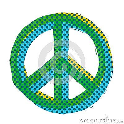 Pop Art Peace Symbol