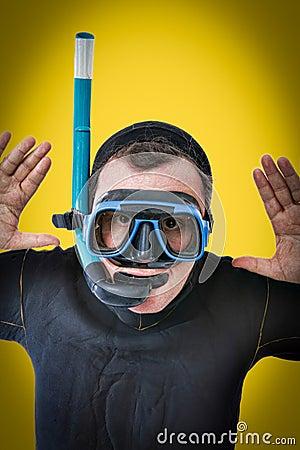 Pop art portrait of a diver