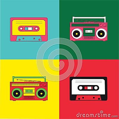 Pop Art Radio Cassette
