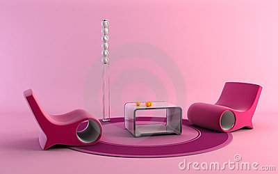 Pop-art style interior