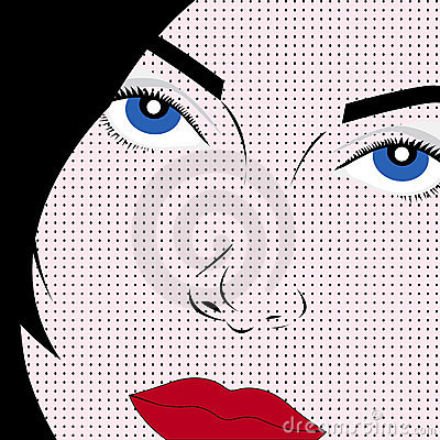 Pop art style woman