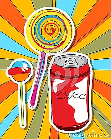 Pop art sweets