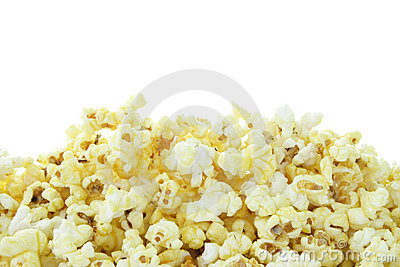 Pop Corn isolated on white