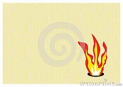 Pop flame