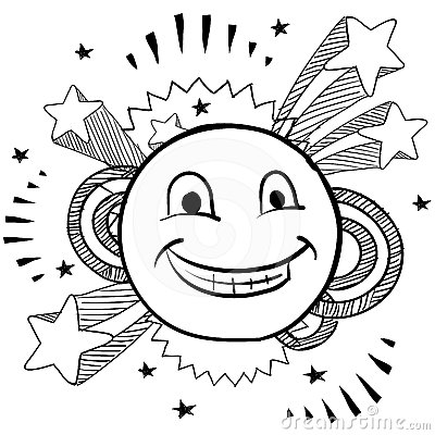 Pop happy face vector