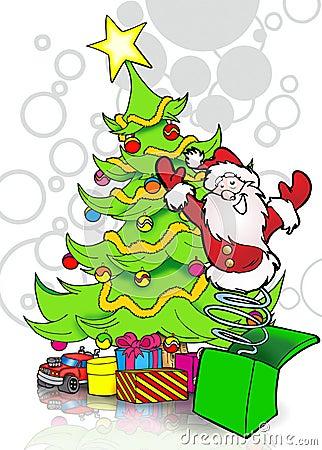 Pop-up santa claus