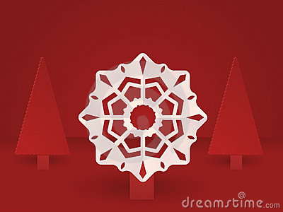 Pop up snowflake and Christmas trees