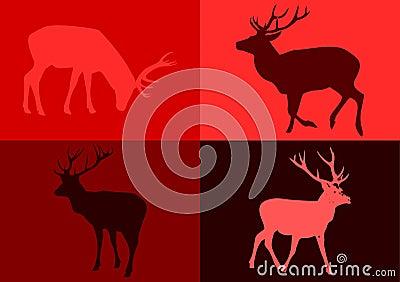 Popart deers.