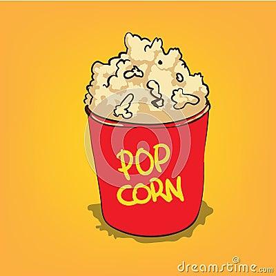 Popcorn in a bucket