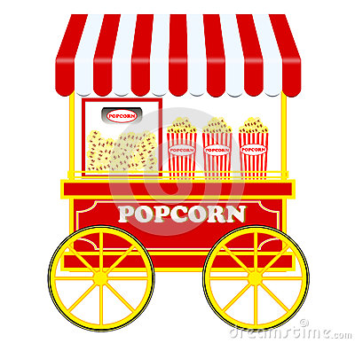 Popcorn Cart Stock Photo Image 45235013