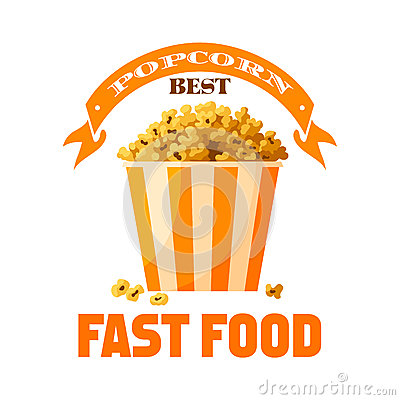 Free Popcorn Fast Food Snack Vector Isolated Icon Royalty Free Stock Photo - 88535975