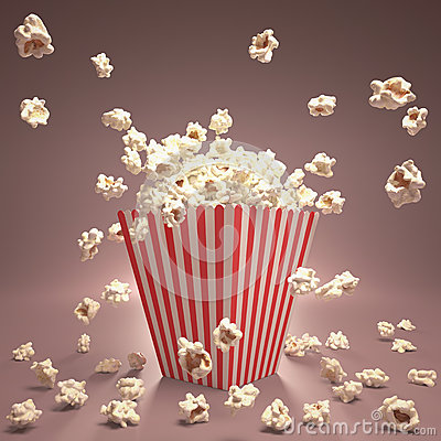 Free Popcorn Flying Royalty Free Stock Photography - 27243137