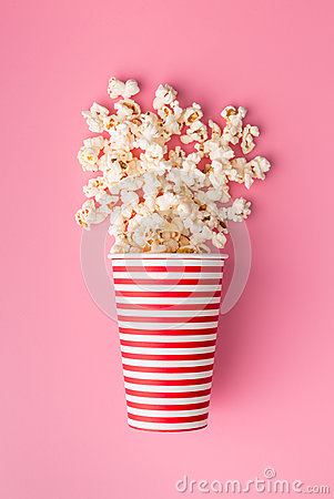 Free Popcorn In Paper Cup Stock Photos - 77764713
