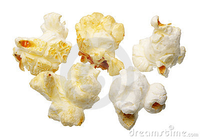 Popcorn, isolated