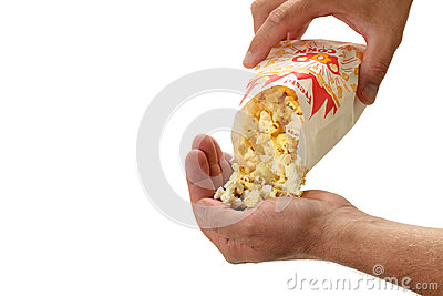 Popcorn Poured into a Hand