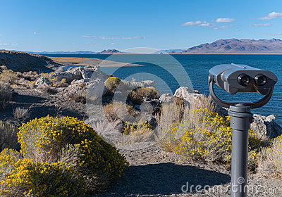 Popcorn Rock Viewpoint at Pyramid Lake, Nevada
