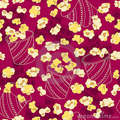 Popcorn Seamless Repeat Pattern Vector