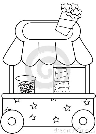 112167846945102557 further Stock Illustration Popcorn Stand Coloring Page Useful As Book Kids Image53848640 as well  on concession stand design plans